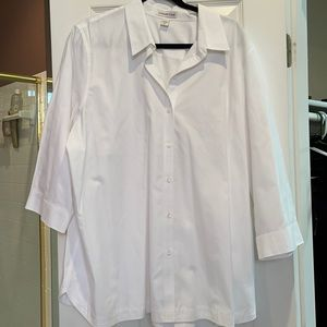 3x coldwater creek 3/4 sleeves button down shirt